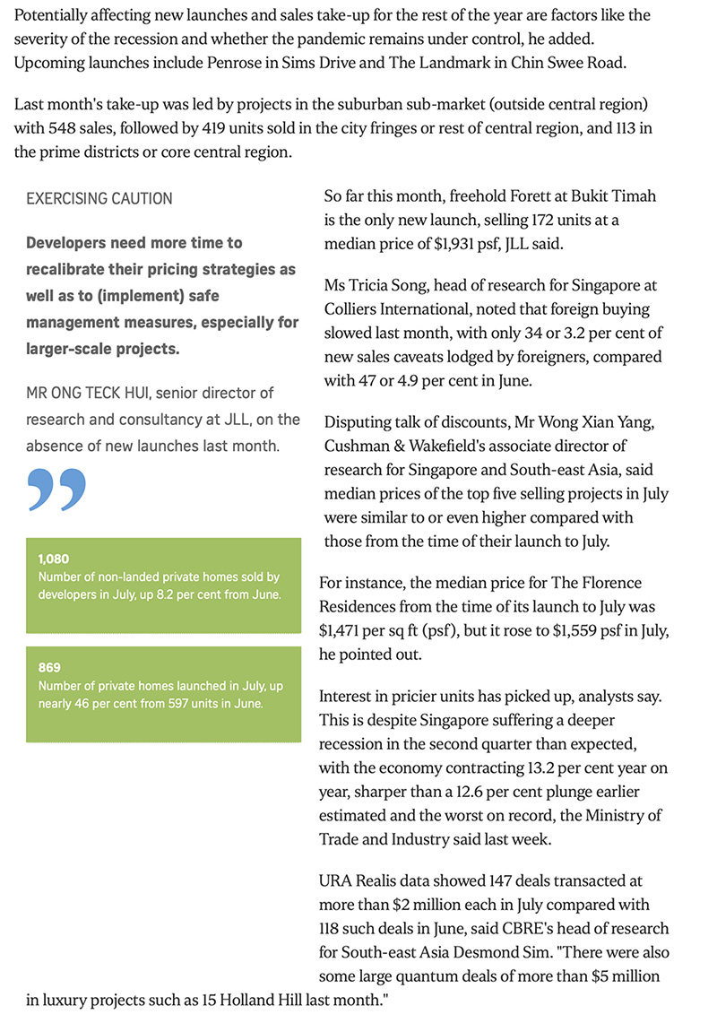 The Woodleigh Residences - New private home sales up for 3rd month in row 2