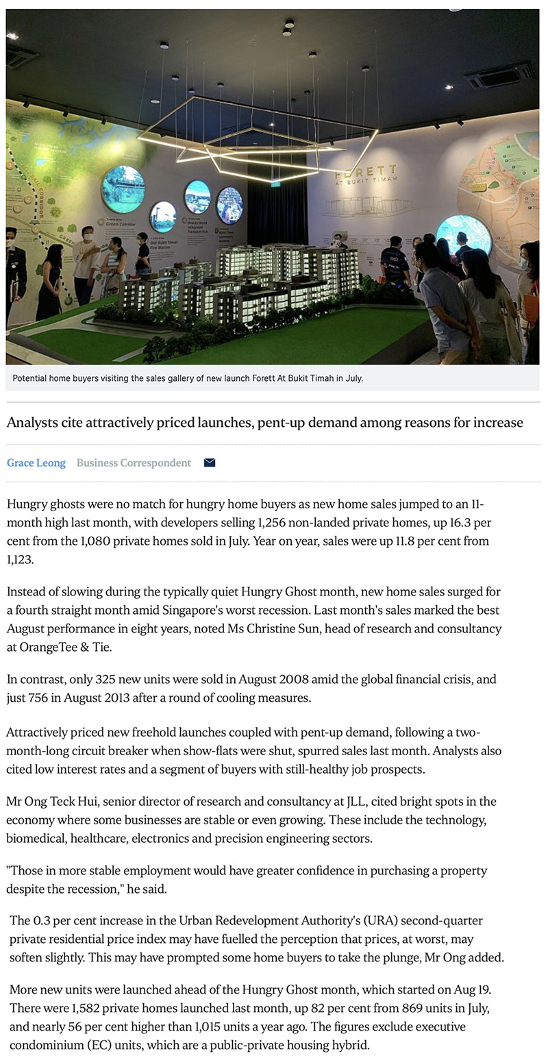 The Woodleigh Residences - New home sales surge to 11-month high in August 1